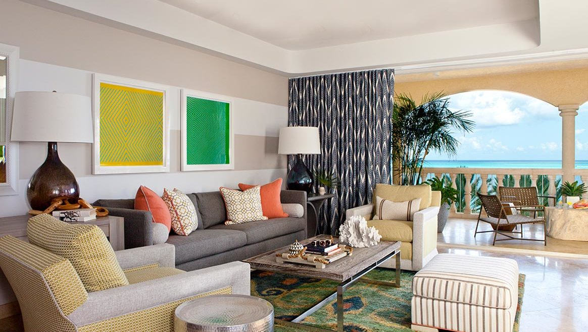 Villas – Grace Bay Suites – Living Room 1